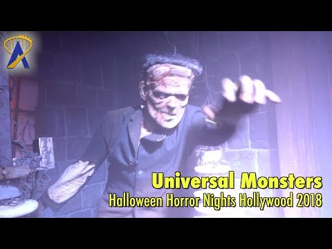 Universal Monsters maze at Halloween Horror Nights Hollywood 2018