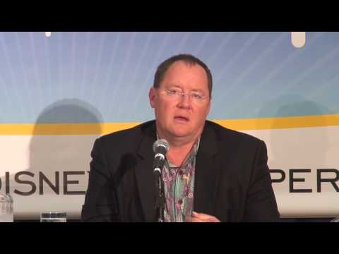 Pixar's John Lasseter answers questions at the D23 Expo