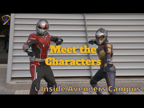 The Super Heroes and Villain Characters at Avengers Campus, Disneyland Resort