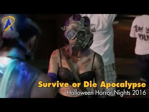 Survive or Die Apocalypse Scare Zone for Halloween Horror Nights 2016 at Universal Orlando