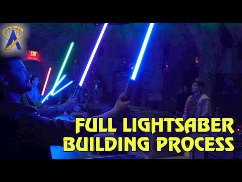 Full Lightsaber Building Process at Savi's Workshop in Star Wars: Galaxy's Edge