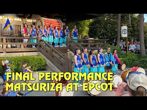 Final Show for Matsuriza, the drummers in Japan at Epcot