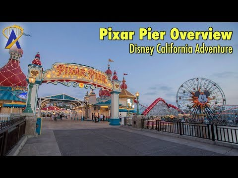 Pixar Pier Overview at Disney California Adventure