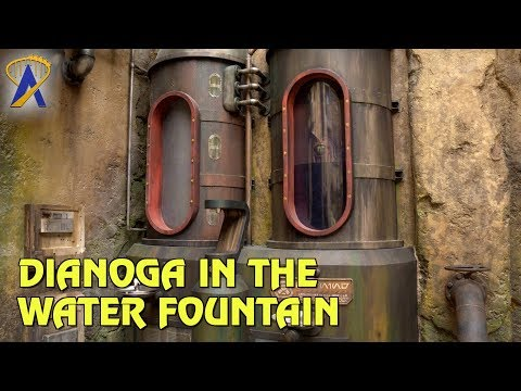 Dianoga in the Water Fountain at Star Wars: Galaxy's Edge