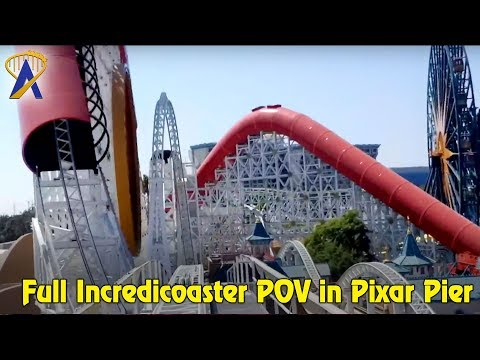 Full Incredicoaster POV ride through from The Incredibles in Pixar Pier