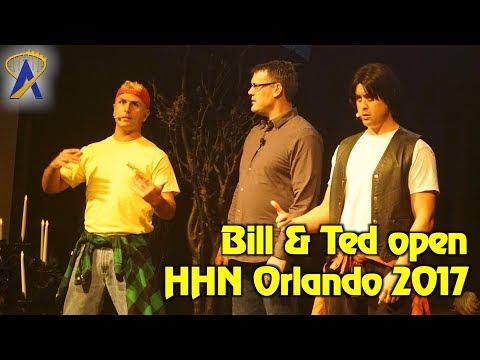 Bill & Ted open Halloween Horror Nights 2017 at Universal Orlando