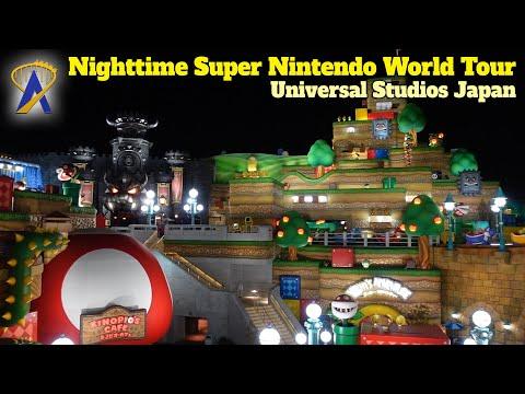 Nighttime Tour Inside Super Nintendo World at Universal Studios Japan