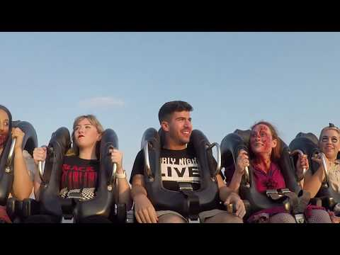 Riding SheiKra with zombies during Howl-O-Scream at Busch Gardens Tampa Bay