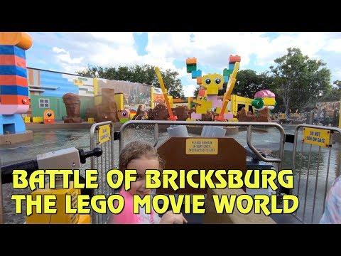 Battle of Bricksburg POV   The LEGO Movie World at Legoland Florida