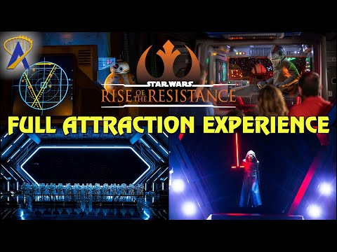 Full Attraction Experience - Star Wars: Rise of the Resistance at Star Wars: Galaxy's Edge Florida