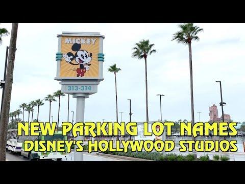 New Parking Lot Names and Bus Loop at Disney's Hollywood Studios