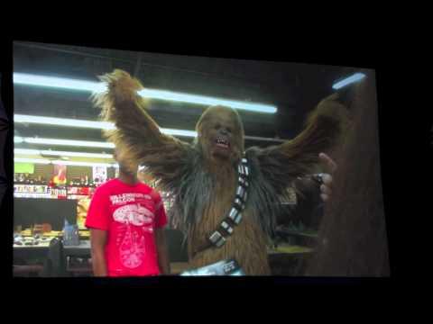 Chewbacca pranks Klingon and host - Shown at Star Wars Celebration VI