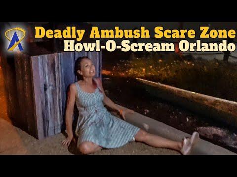 Deadly Ambush Scare Zone at Howl-O-Scream Orlando