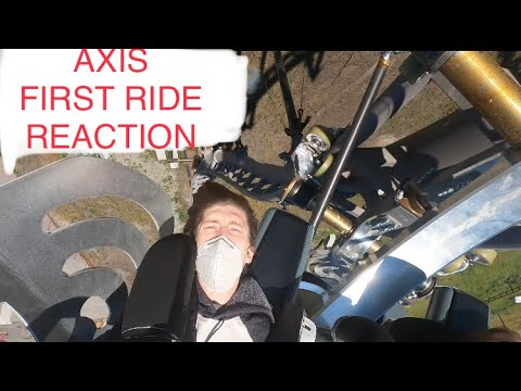 First ride Reaction - S&S Axis Roller Coaster Prototype - First Ride Reaction