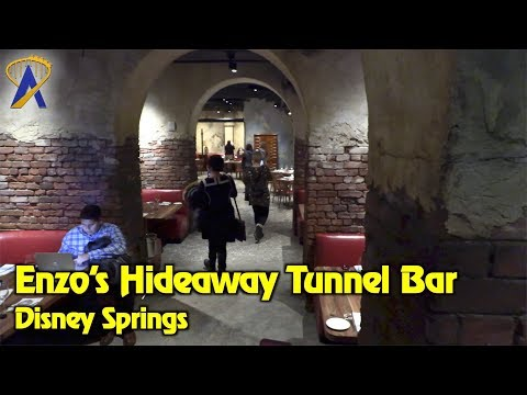Enzo's Hideaway Tunnel Bar tour at Disney Springs