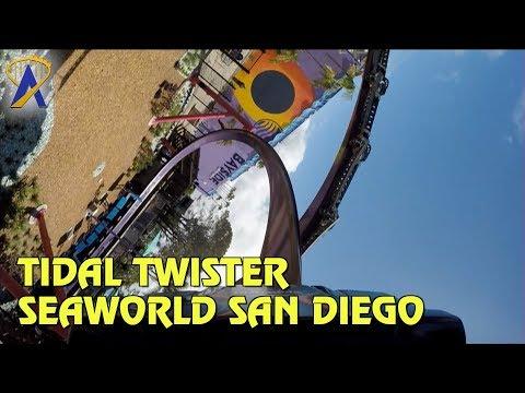 Tidal Twister POV and Rider Cam at SeaWorld San Diego