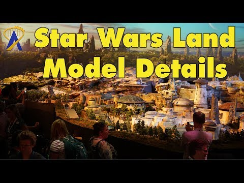 Detailed Look at Star Wars Land Model - Coming to Disneyland and Disney World