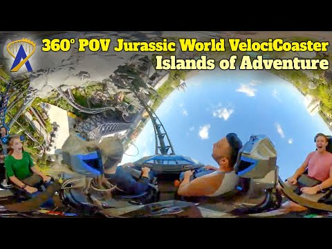 Jurassic World VelociCoaster 360ºView at Universal's Islands of Adventure