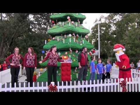 Legoland Florida Christmas Tree lighting 2012 with NSYNC member and Lego Santa