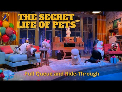 Full The Secret Life of Pets Ride-Through and Queue at Universal Studios Hollywood