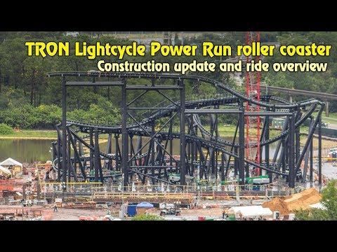 TRON Lightcycle Power Run Construction Update