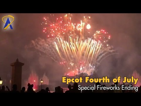 Epcot Fourth of July fireworks ending to Illuminations: Reflections of Earth 2016