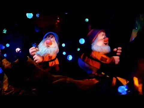 Complete Seven Dwarfs Mine Train POV front and back ride-through at Disney's Magic Kingdom