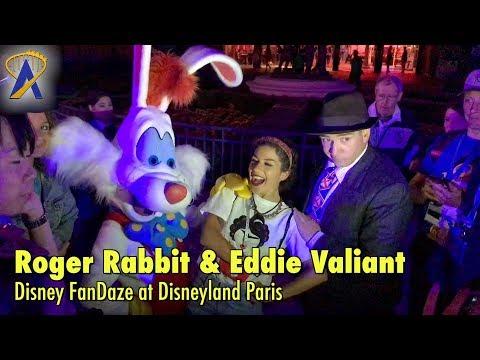Roger Rabbit & Eddie Valiant appear together during Disney FanDaze at Disneyland Paris