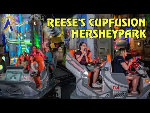 Reese's Cupfusion interactive ride at Hersheypark