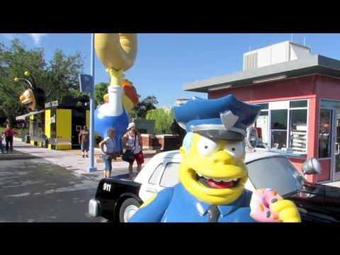New Simpsons Springfield walk-through at Universal Studios Florida - Lard Lad, Bumblebee Man
