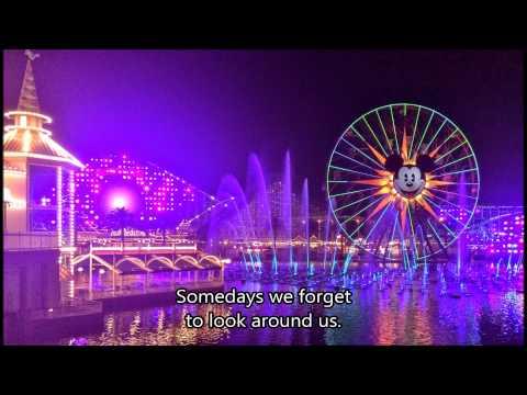 "Disney California Adventure - ""Believe, I See The Light"" (w/ Lyrics) - World of Color Winter Dreams"