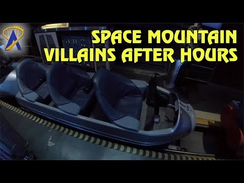 Villain Overlay for Space Mountain during Villains After Hours at Magic Kingdom