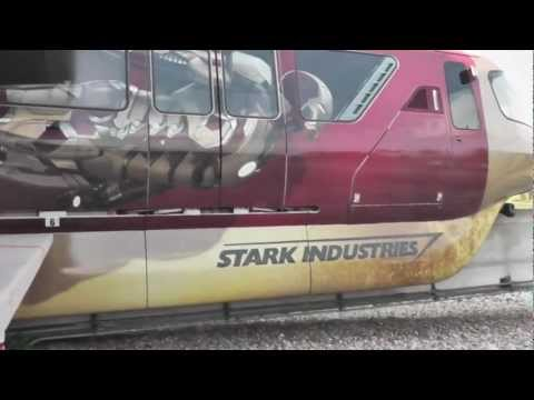 Iron Man 3 Monorail debuts at Walt Disney World - Iron Manorail by Stark Industries