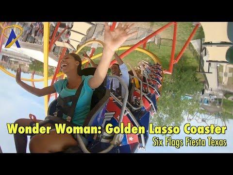Wonder Woman: Golden Lasso Coaster at Six Flags Fiesta Texas