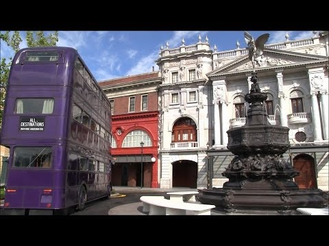 London waterfront revealed as walls come down at Diagon Alley expansion