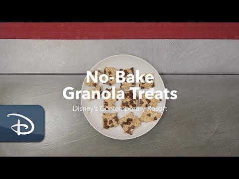 Easy No-Bake Granola Treats from Disney's Contemporary Resort Bakery   #DisneyMagicMoments