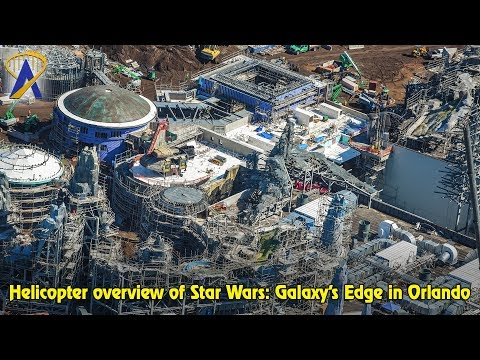 Star Wars: Galaxy's Edge at Disney's Hollywood Studios, aerial construction tour