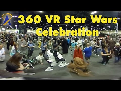 360 Degree Star Wars Celebration show floor Walkthrough 2017