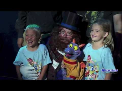 Dreamfinder and Figment meet fans at the Disney D23 Expo 2013 for a special surprise