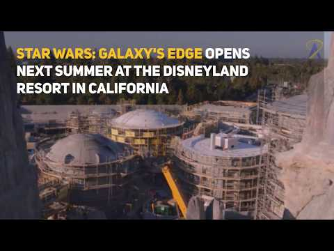 Millenium Falcon finishes construction at Star Wars: Galaxy's Edge in Disneyland