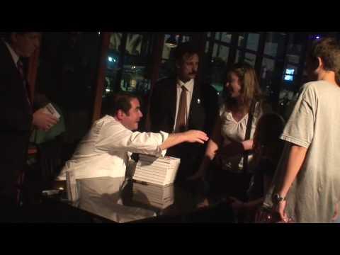 Chef Emeril Lagasse cookbook signing at Universal Orlando CityWalk outside his restaurant