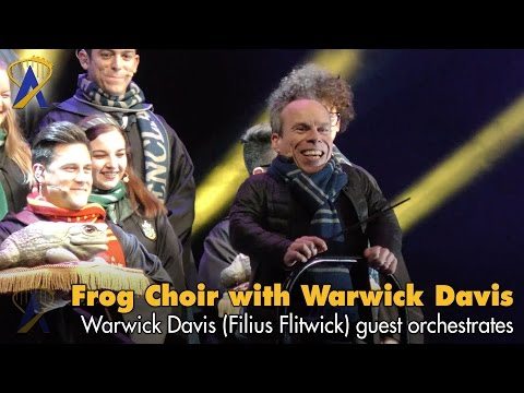 Celebration of Harry Potter Frog Choir conducted by Warwick Davis - Filius Flitwick