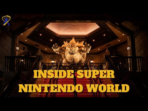 First Look Inside Super Nintendo World and Bowser's Castle, Mario Kart Ride