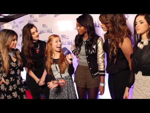 Austin Mahone, Enrique Iglesias, Fifth Harmony interviews at Jingle Ball 2013