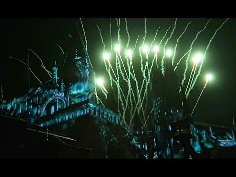 Wizarding World Hollywood Fireworks and Projection Show for opening ceremony