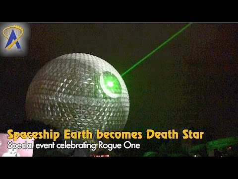 Spaceship Earth becomes the Death Star at Star Wars event at Epcot