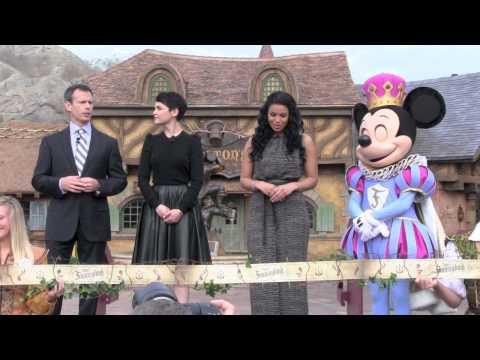 New Fantasyland Ribbon Cutting with Ginnifer Goodwin and Jordin Sparks