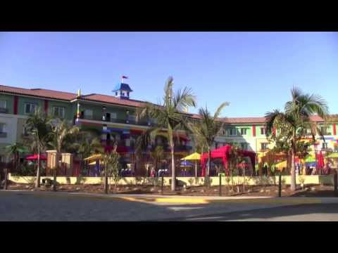 Legoland Hotel Tour - lobby, restaurant, pool at Legoland California Resort