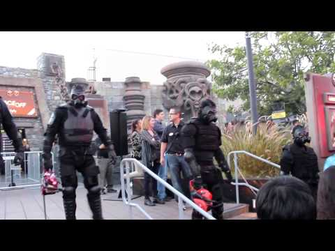 The Purge opening ceremonies at Universal Hollywood Halloween Horror Nights 2014