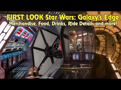 Star Wars: Galaxy's Edge, FIRST LOOK at new food, drinks, merchandise, ride details and more!